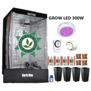 KIT CULTIVO INDOOR DARK BOX 100 GROW LED 300W