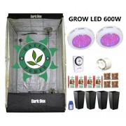 KIT CULTIVO INDOOR DARK BOX 100 GROW LED 600W