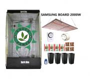 KIT CULTIVO INDOOR DARK BOX 100 GROW LED 2000W SAMSUNG QUANTUM BOARD