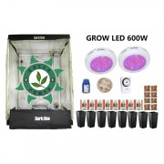 KIT CULTIVO INDOOR DARK BOX 140 UFO GROW LED 600W