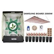 KIT CULTIVO INDOOR DARK BOX 140 QUANTUM SAMSUNG GROW LED 2000W