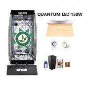 KIT CULTIVO INDOOR DARK BOX 40 GROW LED 150W QUANTUM