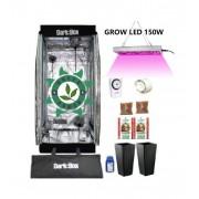 KIT CULTIVO INDOOR DARK BOX 60 GROW LED 150W