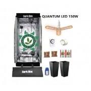 KIT CULTIVO INDOOR DARK BOX 60 GROW LED 150W DRONE  QUANTUM E-27
