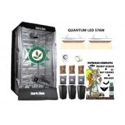 KIT ESTUFA DARK BOX 80 GROW LED 576W QUANTUM