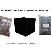 KIT SUBSTRATO VASO POWER POT 7 LITROS E TURFA
