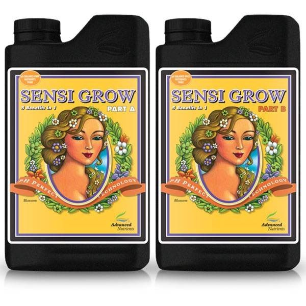 FERTILIZANTE MINERAL AN SENSI GROW A + B 100ML