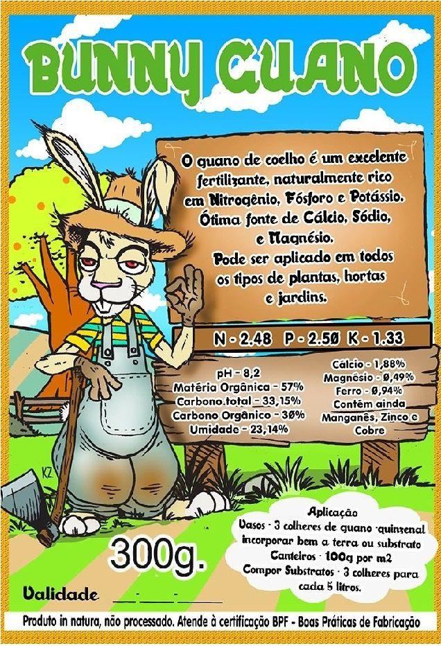 FERTILIZANTE ORGÂNICO BUNNY GUANO 300G
