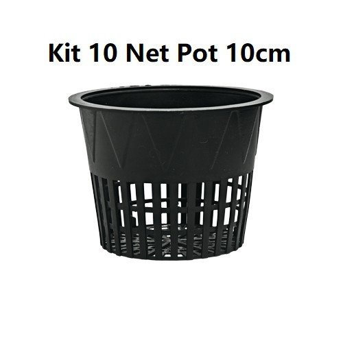 KIT 10 VASOS NET POT 10CM