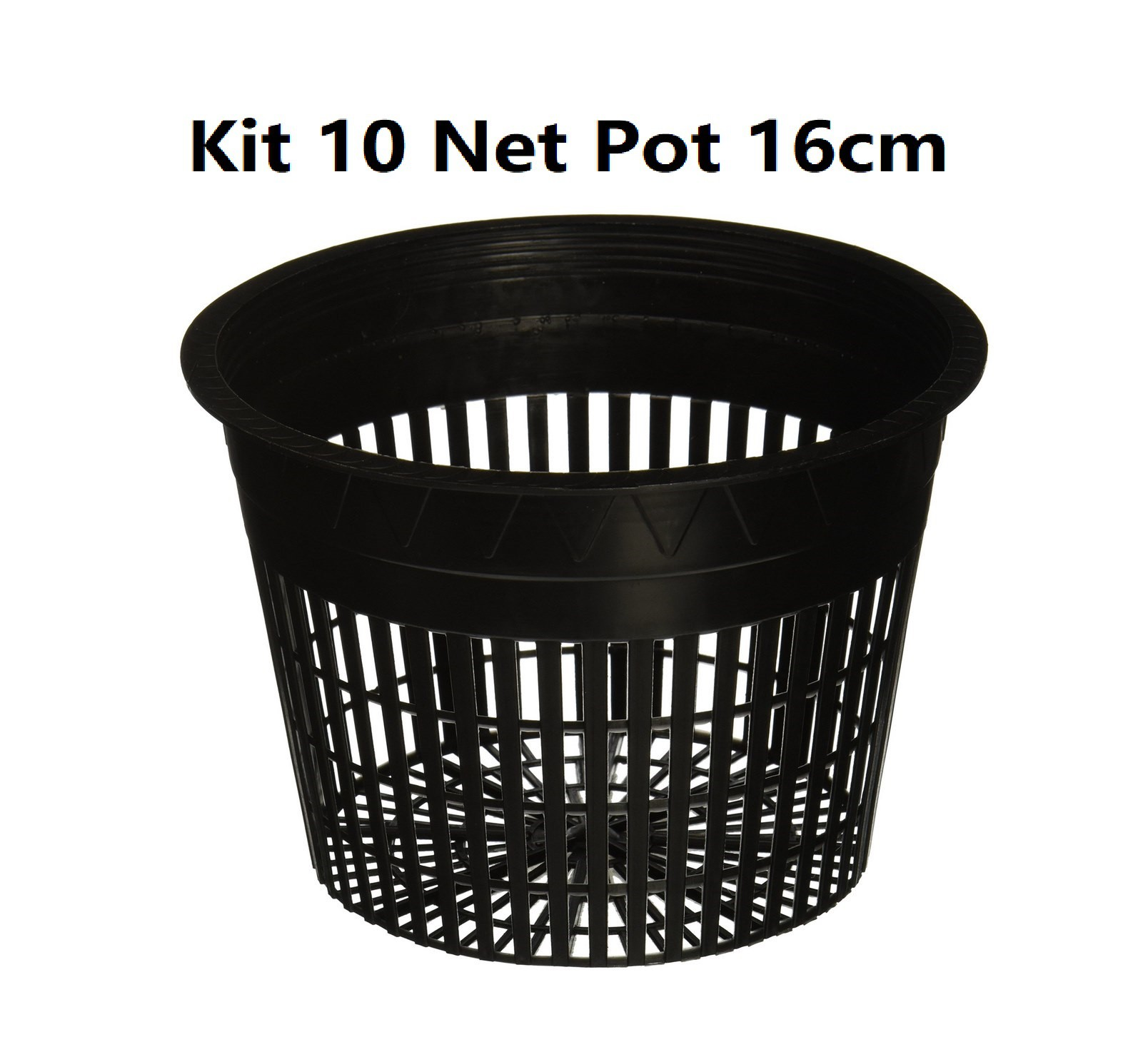 KIT 10 VASOS NET POT 16CM