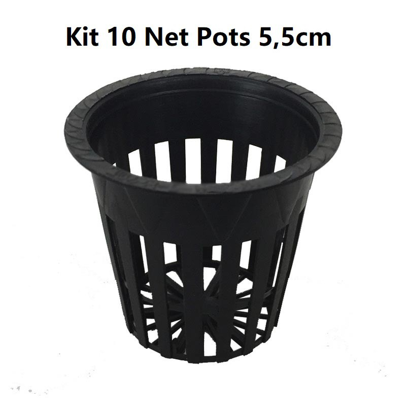 KIT 10 VASOS NET POT 5.5CM