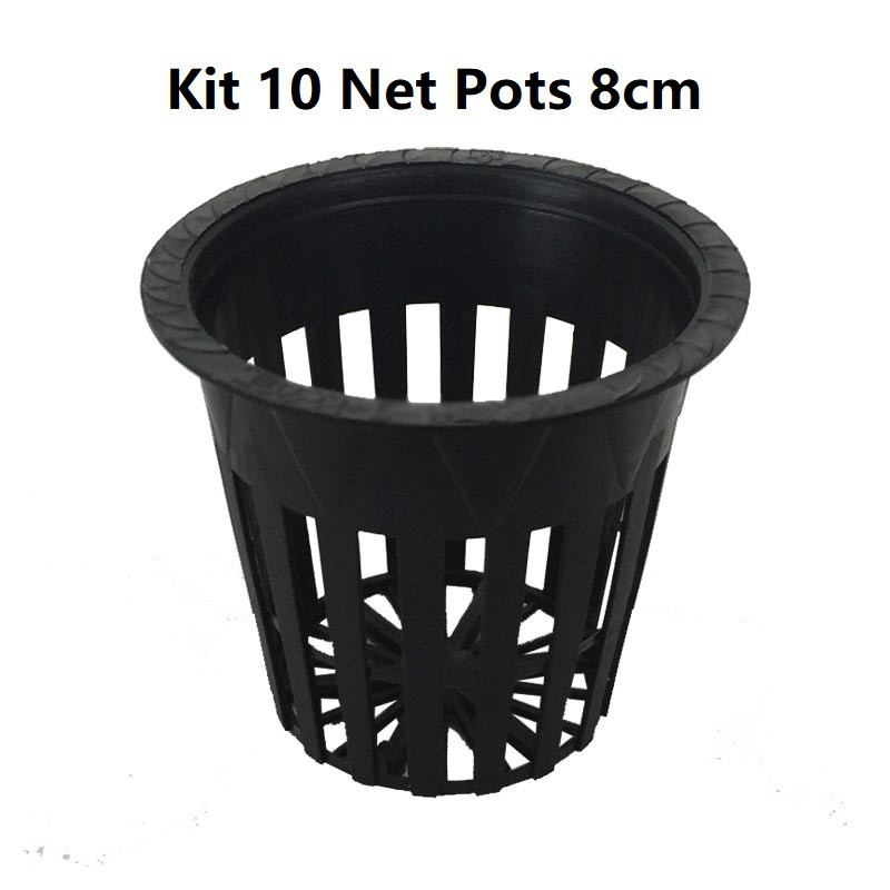 KIT 10 VASOS NET POT 8CM