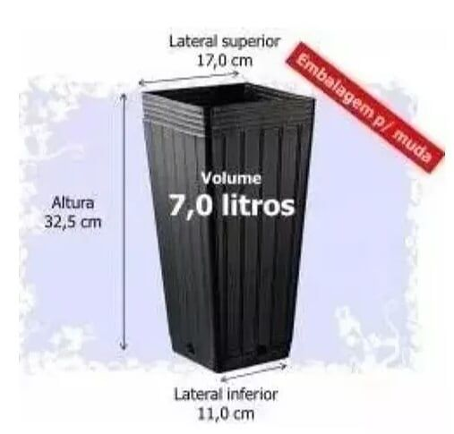 KIT 20 VASOS 7L + 20 PRATOS