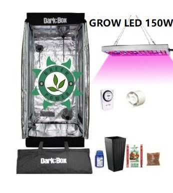KIT CULTIVO INDOOR DARK BOX 40 GROW LED 150W