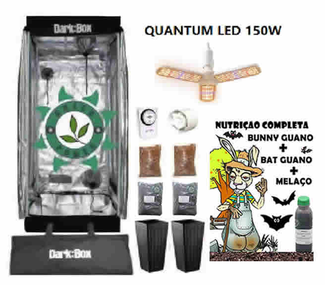 KIT ESTUFA DARK BOX 60 GROW LED 150W DRONE QUANTUM E-27
