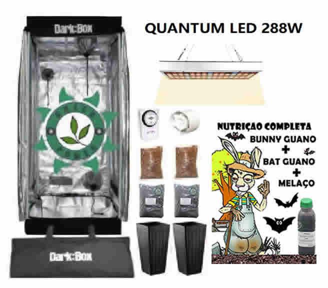 KIT ESTUFA DARK BOX 60 GROW LED 288W QUANTUM