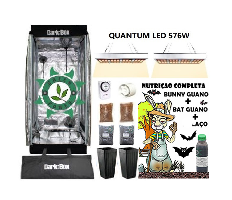 KIT ESTUFA DARK BOX 60 GROW LED 576W QUANTUM