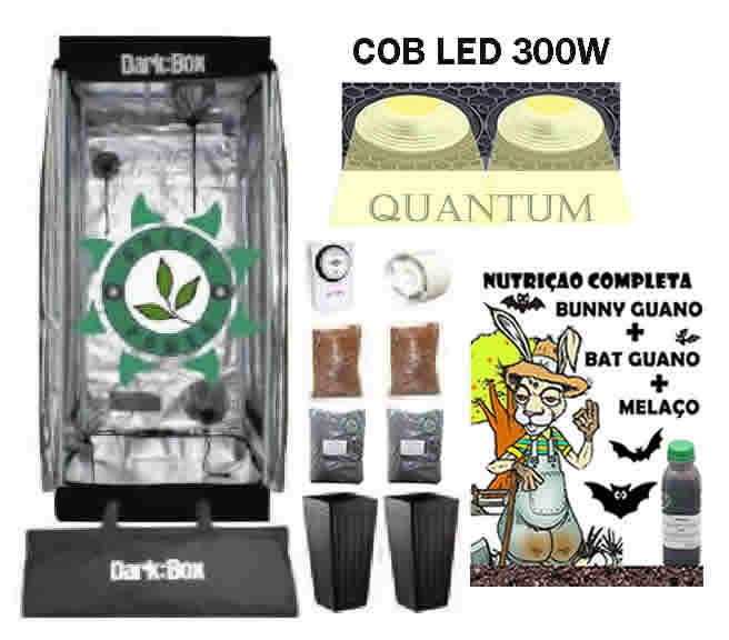 KIT ESTUFA DARK BOX 60 GROW QUANTUM COB LED 300W