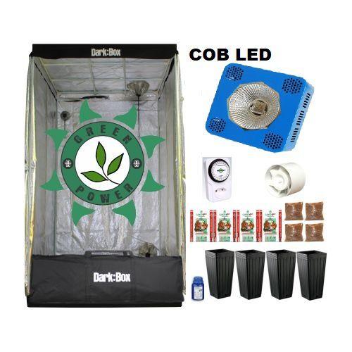 KIT DARK BOX 100 GROW COB LED 9600