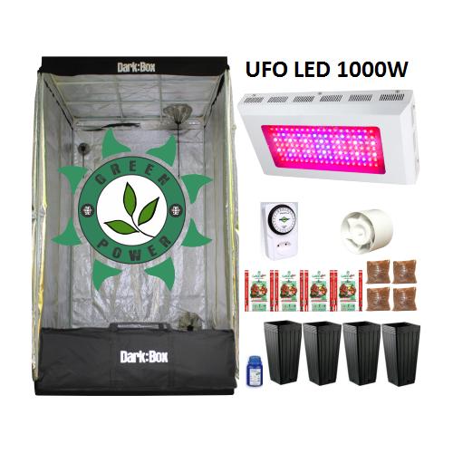 KIT DARK BOX 100 GROW LED 1000W