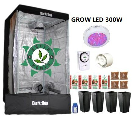 KIT CULTIVO INDOOR DARK BOX 100 GROW LED 300W
