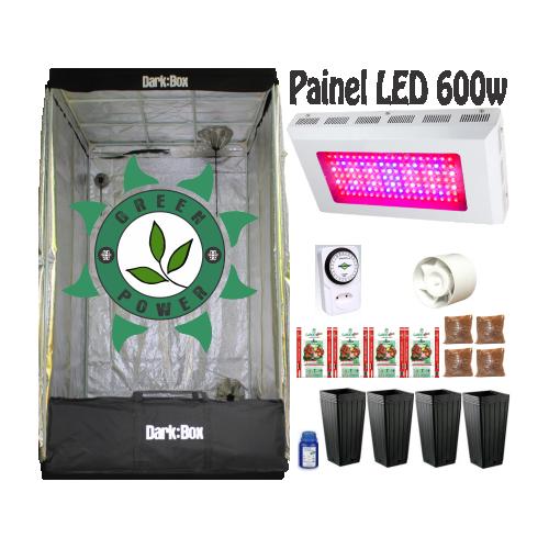 KIT DARK BOX 100 GROW LED 600W