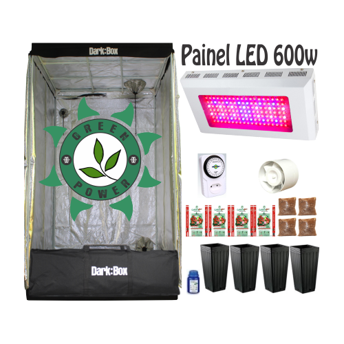 KIT DARK BOX 100 GROW LED 600W