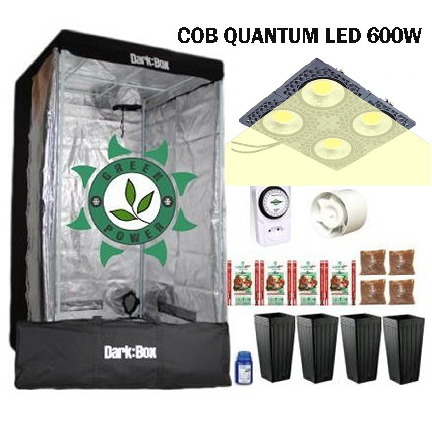 KIT DARK BOX 100 GROW QUANTUM COB LED 600W