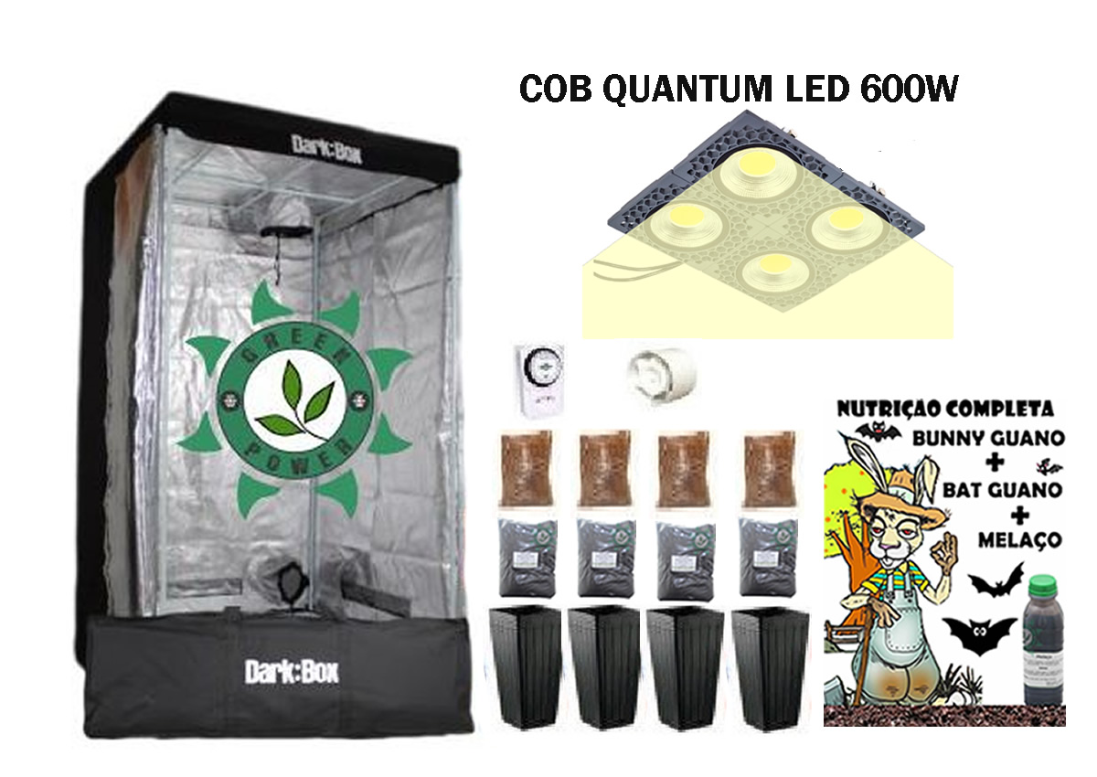KIT ESTUFA DARK BOX 100 GROW QUANTUM COB LED 600W
