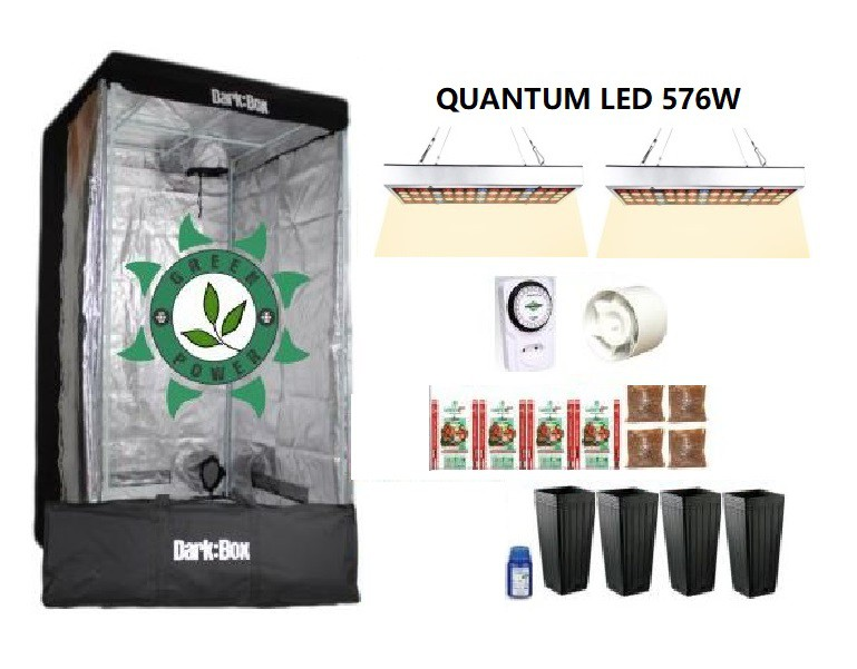 KIT DARK BOX 100 GROW QUANTUM LED 576W
