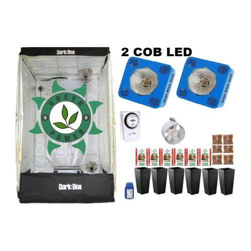 KIT DARK BOX 120 GROW COB LED 2X9600