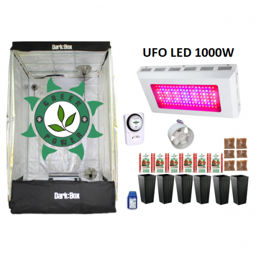 KIT DARK BOX 120 GROW LED 1000W