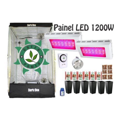 KIT CULTIVO INDOOR DARK BOX 120 GROW LED 1200W