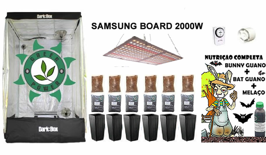 KIT ESTUFA DARK BOX 120 GROW LED 2000W SAMSUNG QUANTUM BOARD