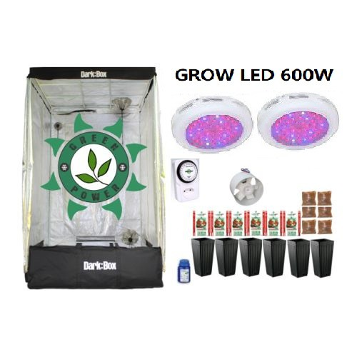 KIT CULTIVO INDOOR DARK BOX 120 UFO GROW LED 600W
