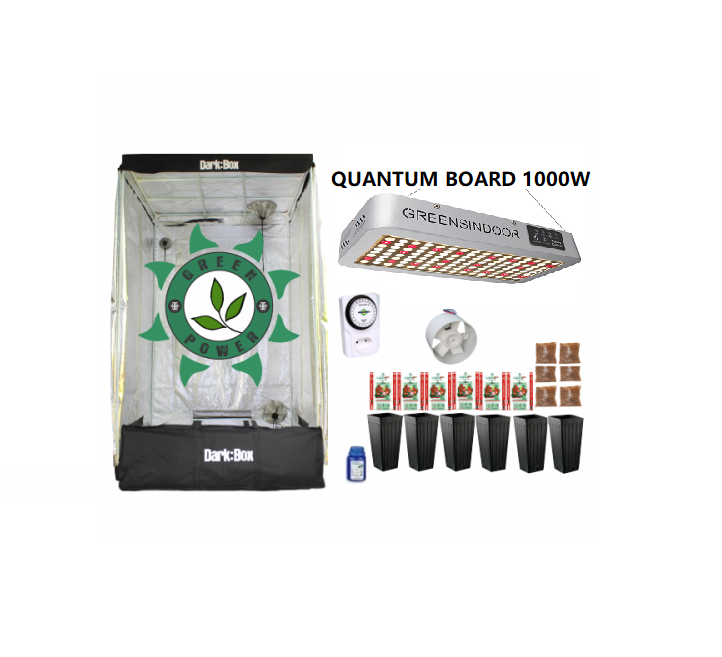 KIT DARK BOX 120 QUANTUM GROW LED 1000W