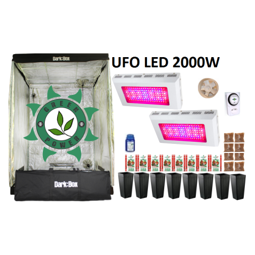 KIT DARK BOX 140 GROW LED 2000W