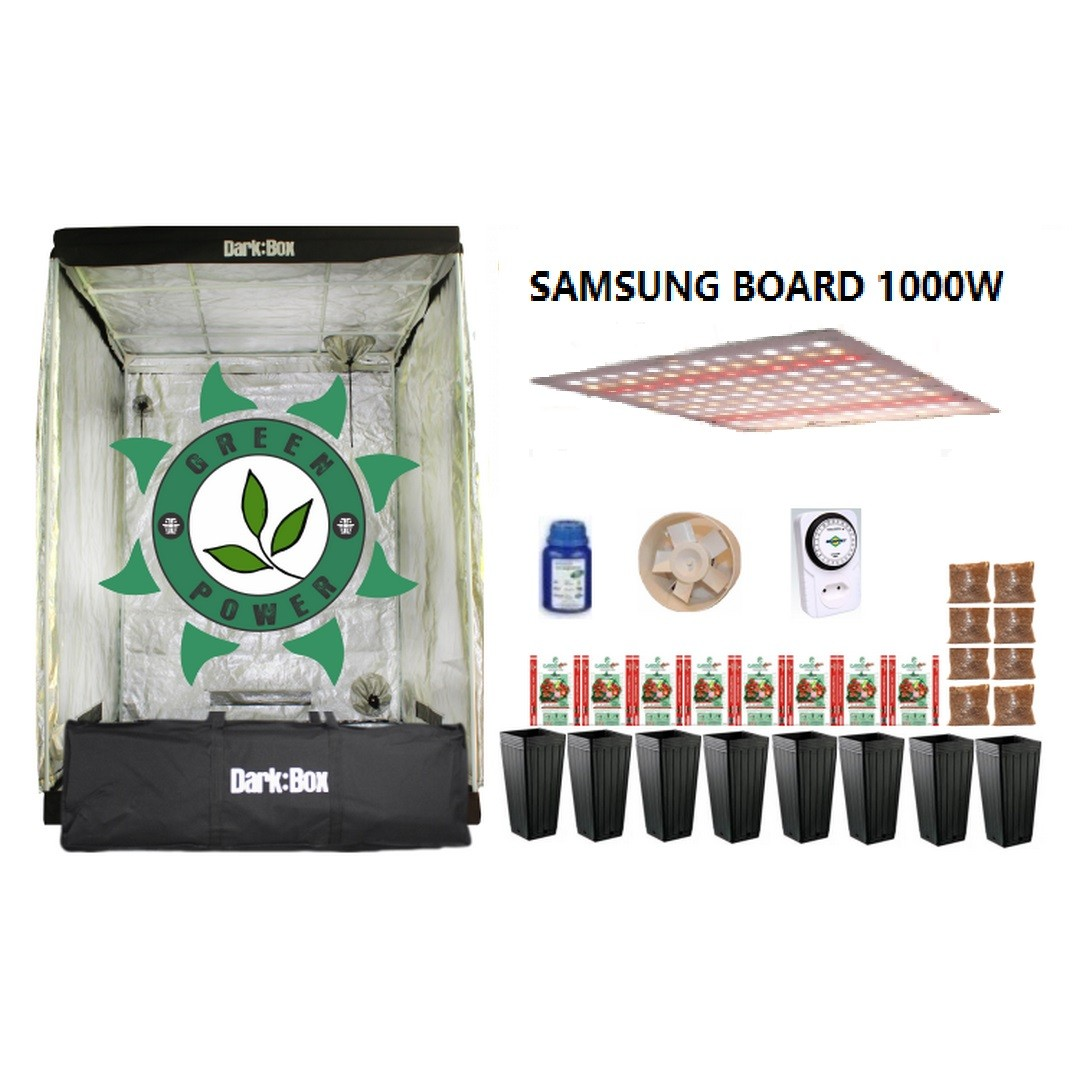 KIT CULTIVO INDOOR DARK BOX 140 GROW LED 1000W SAMSUNG QUANTUM BOARD