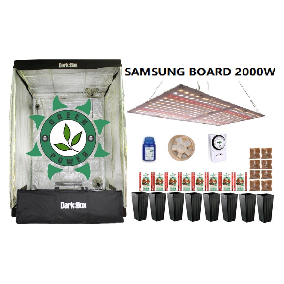 KIT CULTIVO INDOOR DARK BOX 140 GROW LED 2000W SAMSUNG QUANTUM BOARD