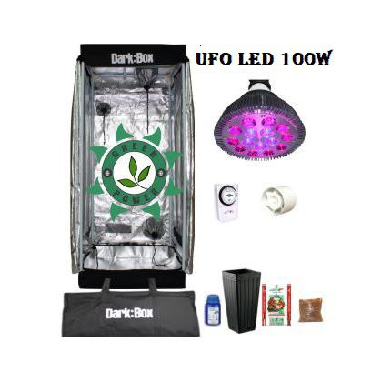 KIT DARK BOX 40 GROW LED 100W