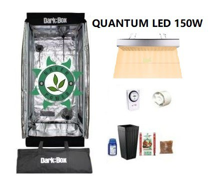KIT CULTIVO INDOOR DARK BOX 40 GROW QUANTUM LED 150W