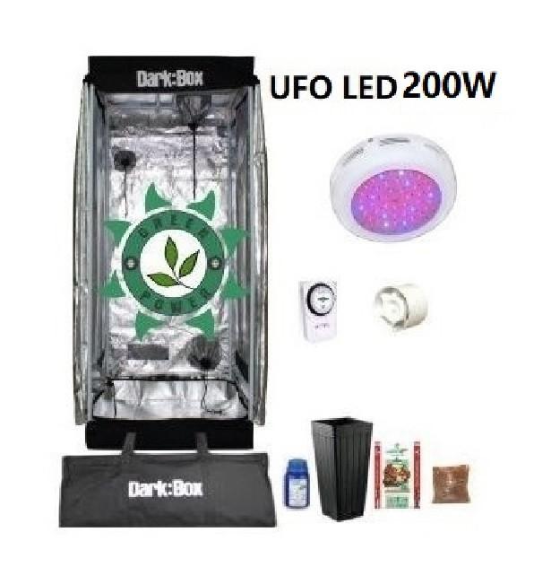KIT DARK BOX 40 GROW LED 200W