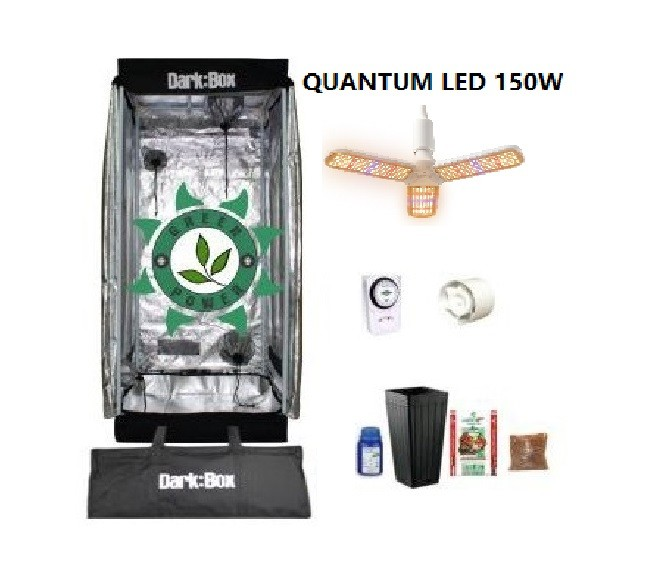 KIT DARK BOX 40 GROW QUANTUM LED 150W E-27