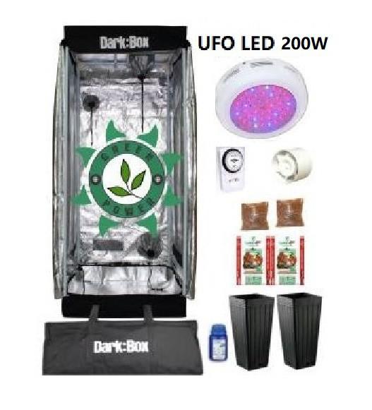 KIT DARK BOX 60 GROW LED 200W
