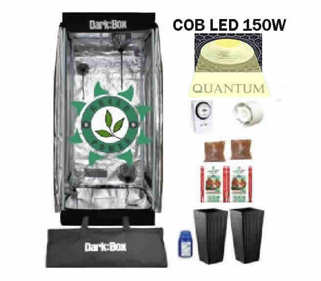 KIT DARK BOX 60 GROW QUANTUM COB LED 150W