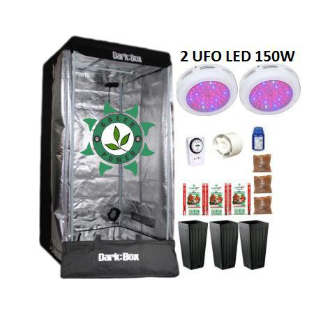KIT DARK BOX 80 GROW LED 300W