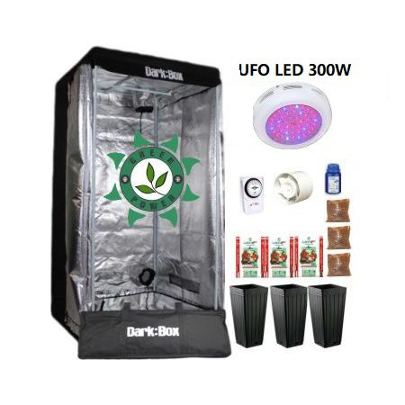 KIT CULTIVO INDOOR DARK BOX 80 GROW LED 300W