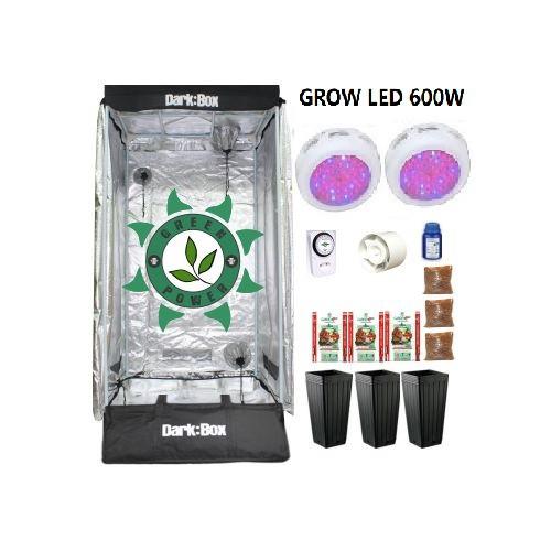 KIT DARK BOX 80 GROW LED 600W