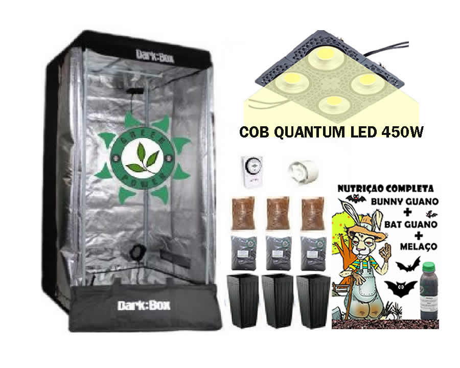 KIT ESTUFA DARK BOX 80 GROW QUANTUM COB LED 600W