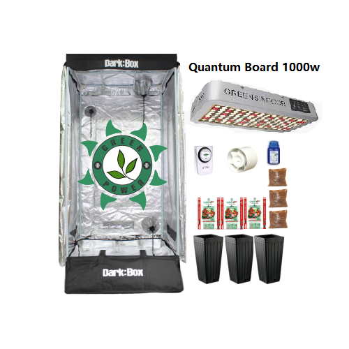 KIT CULTIVO INDOOR DARK BOX 80 QUANTUM LED 1000W